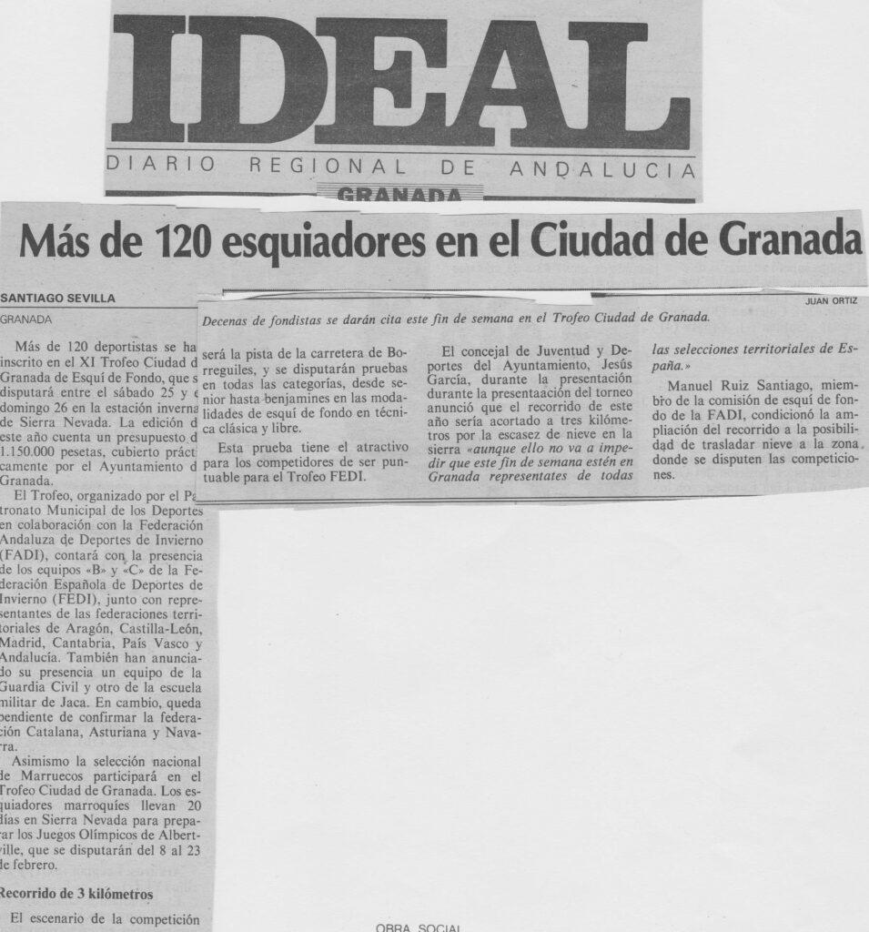 Más de 120 esquiadores en el Ciudad de Granada