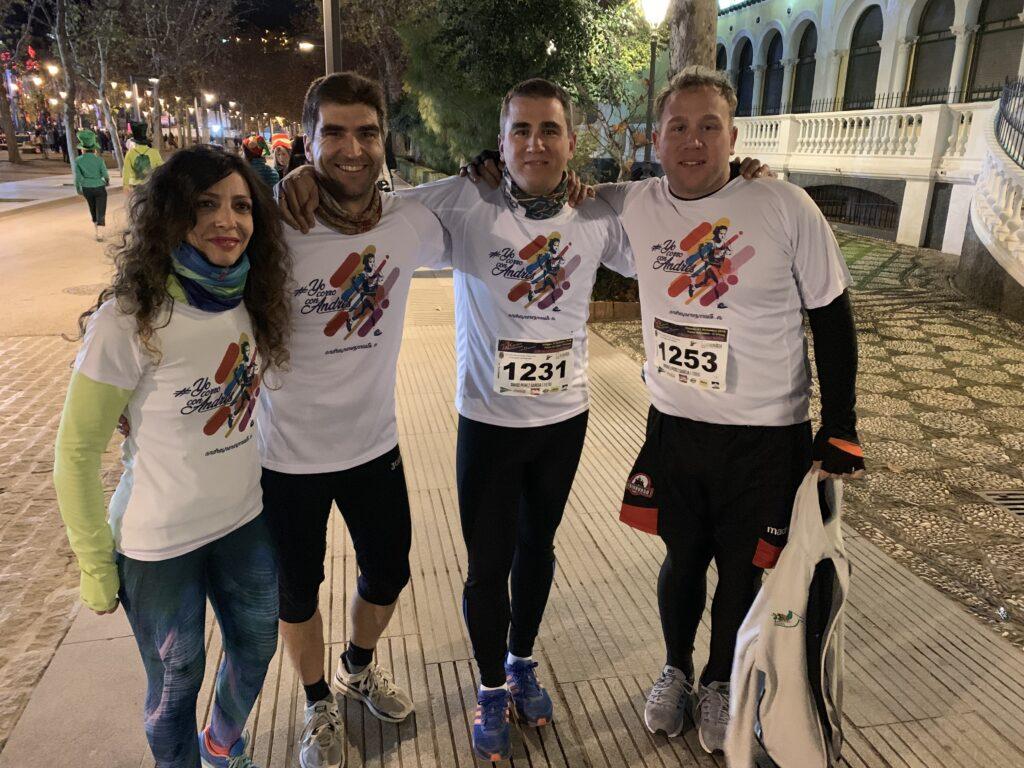 Corriendo con Andrés en la Carrera Nocturna 1
