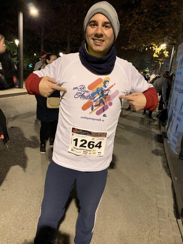 Corriendo con Andrés en la Carrera Nocturna 6