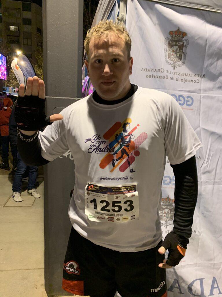 Corriendo con Andrés en la Carrera Nocturna 10