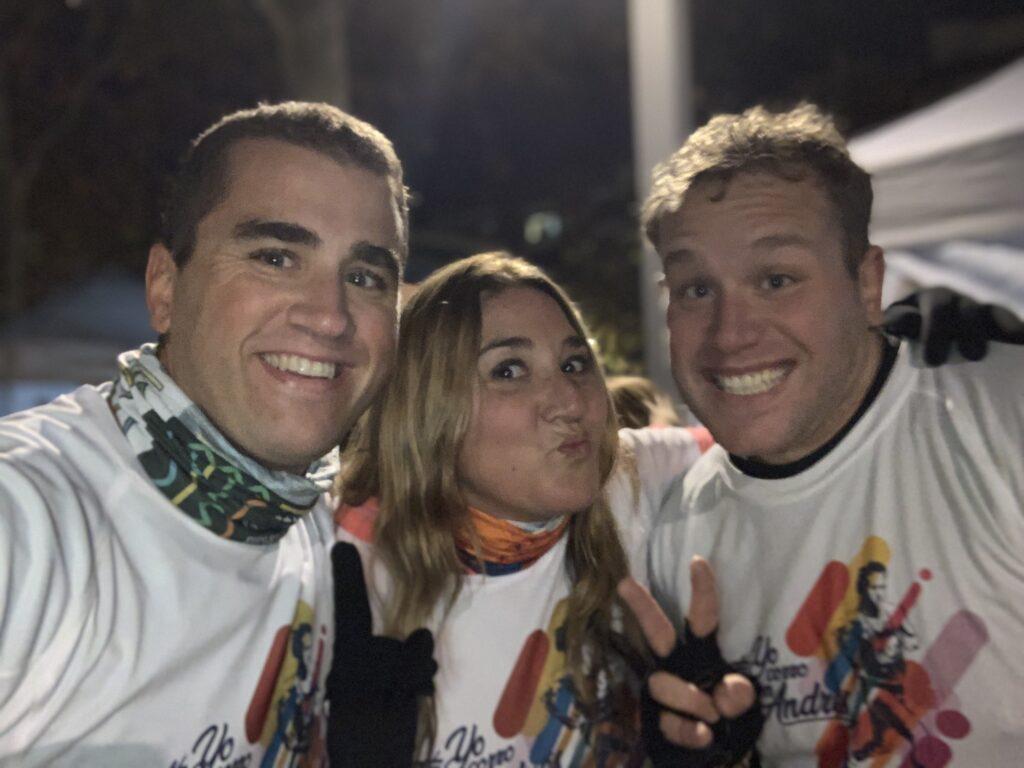Corriendo con Andrés en la Carrera Nocturna 4
