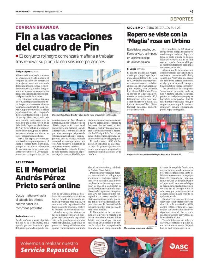 Noticia Granada Hoy 30 Ago